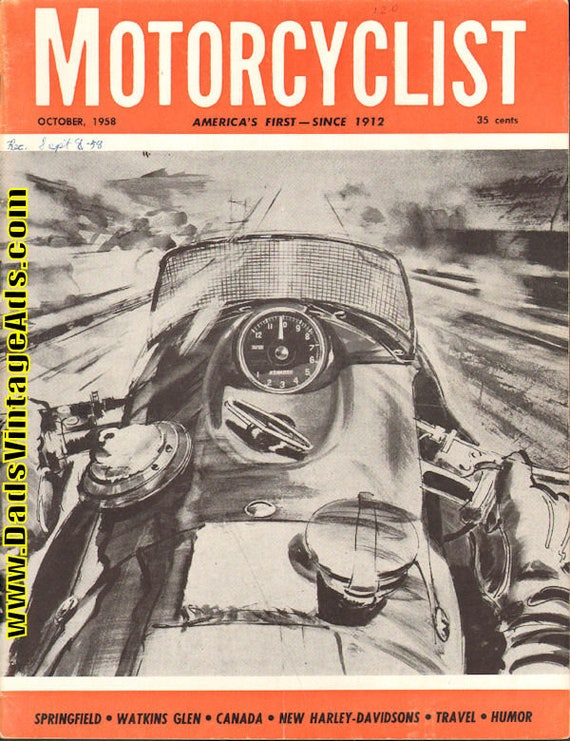 1958 October Motorcyclist Motorcycle Magazine Back-Issue #5810mc