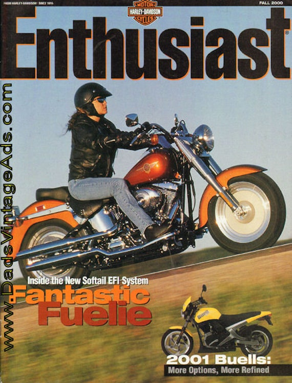 2000 Fall The Enthusiast Harley-Davidson Motorcycle Magazine Back-Issue #mb483