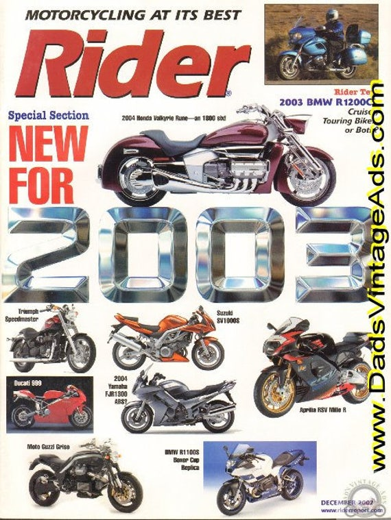 2002 December Rider Motorcycle Magazine Back-Issue #0212rdr