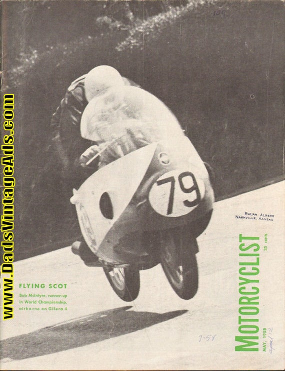 1958 May Motorcyclist Motorcycle Magazine Back-Issue #5805mc