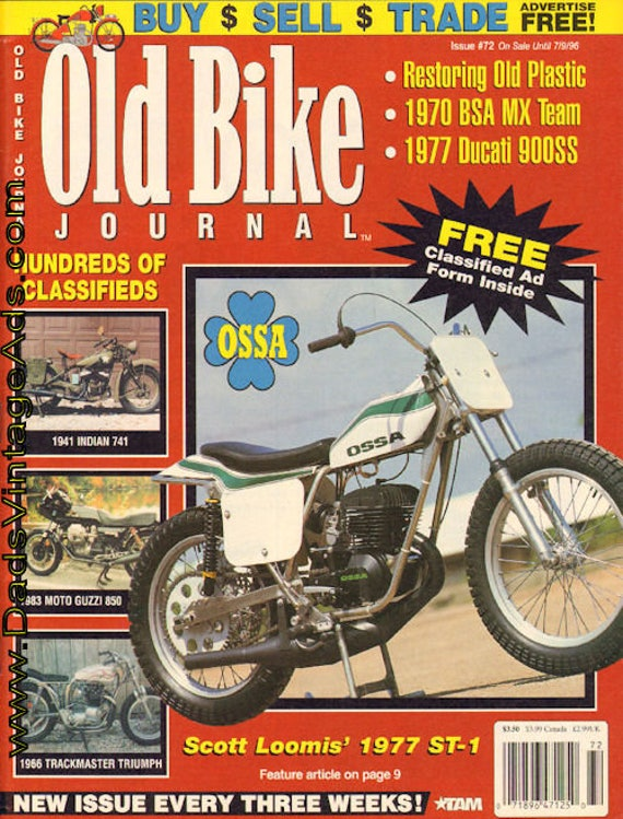 1996 June 18 Old Bike Journal #72 Motorcycle Magazine Back-Issue #960618obj