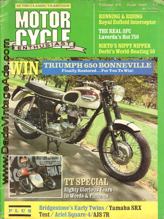 1987 June Motorcycle Enthusiast Magazine Back-Issue #mb496