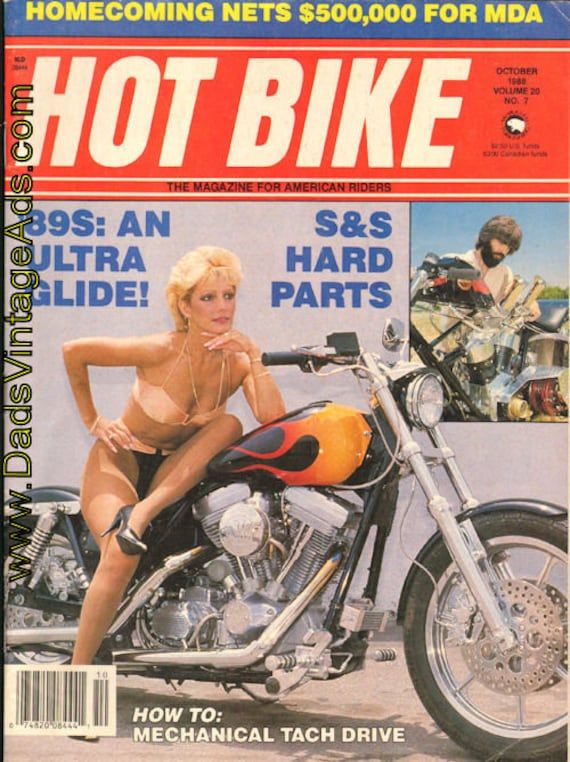 1988 October Hot Bike Motorcycle Magazine Back-Issue #8810hb