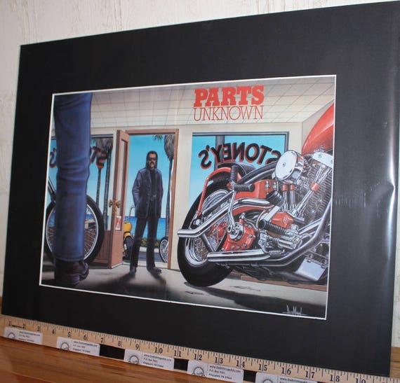 "David Mann ''Parts Unknown"" 16'' x 20'' Matted Easyriders Biker Art #9509ezrxmb"