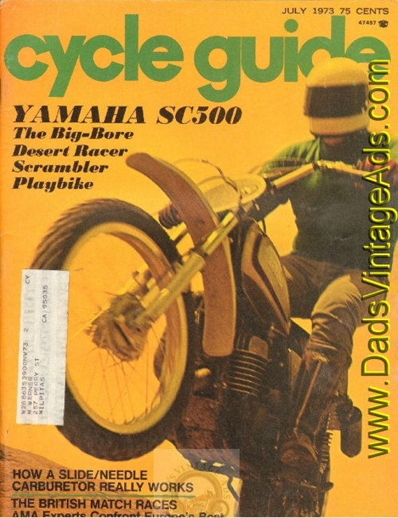 1973 July Cycle Guide Motorcycle Magazine Back-Issue #7307cg