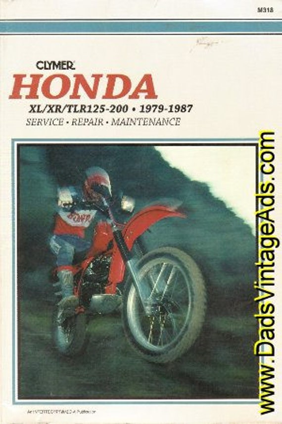 1979-1987 Honda XL / XR / TL125-200 Clymer Service Repair Manual #mm42