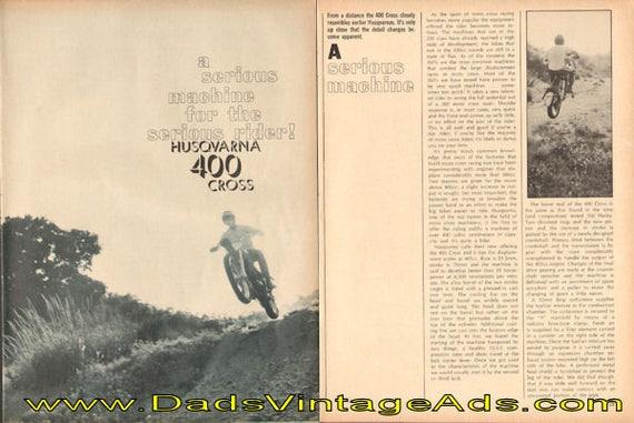 1969 Husqvarna 400 Cross Road Test 5-Page Article #modc69ia16