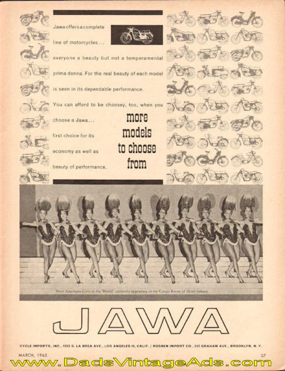 1962 Jawa motorcycles - more models to choose from Ad #t62ca04