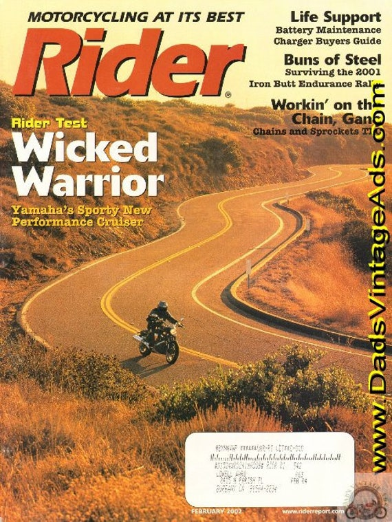 2002 February Rider Motorcycle Magazine Back-Issue #0202rdr