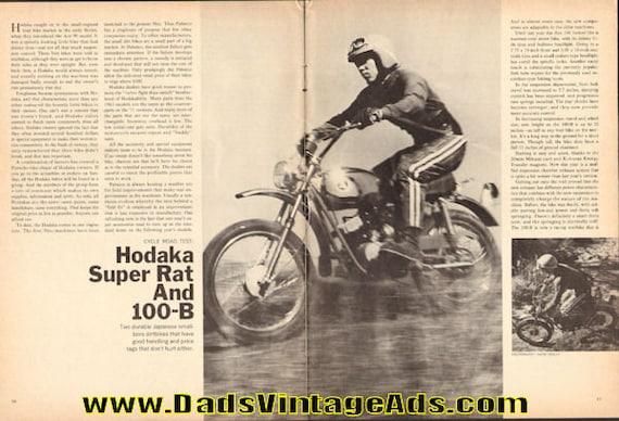 1971 Hodaka Super Rat and 100-B Road Test 5-Page Article #e71ga08