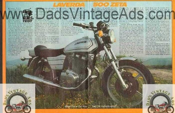 1978 Laverda 500 Zeta Motorcycle Road Test 6-Page Photo Article #nat06