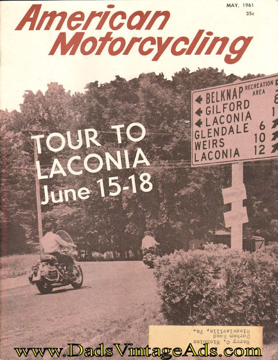 1961 May American Motorcycling Motorcycle Magazine Back-Issue #6105amot