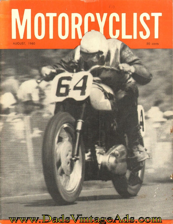 1960 August Motorcyclist Motorcycle Magazine Back-Issue #6008mc