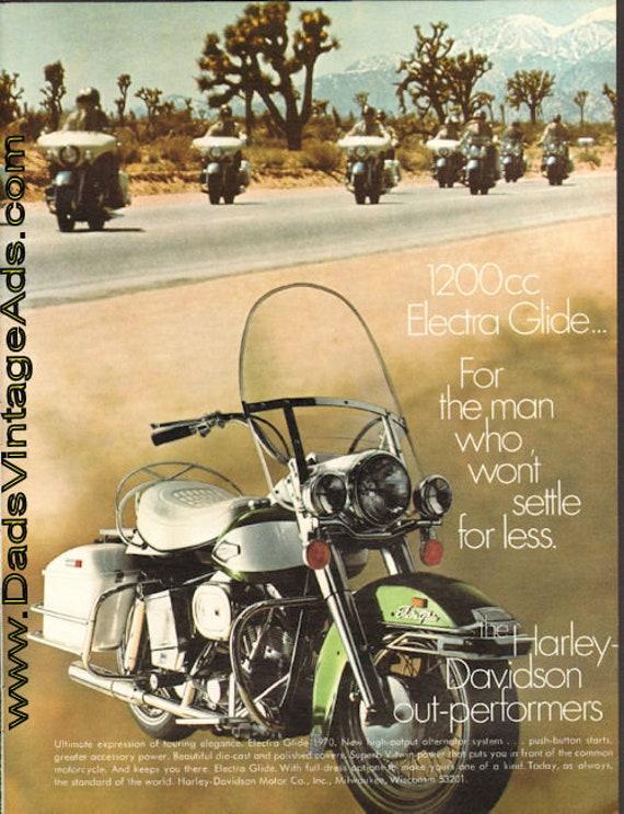 1970 Harley-Davidson 1200 Electra Glide Ad #de70eb05