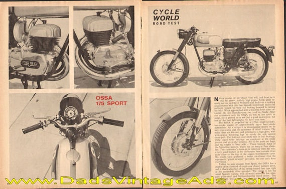 1965 Ossa 175 Sport Road Test 3-Page Article #d65ja24