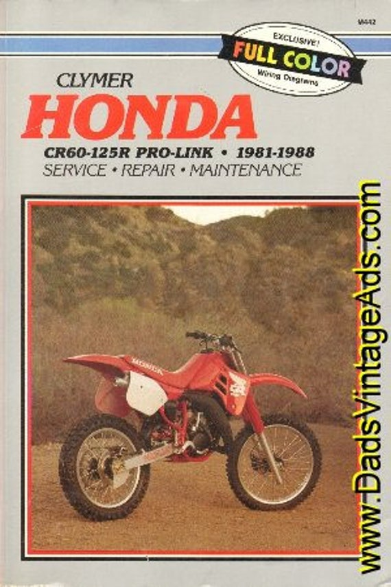 1981 -1988 Honda CR60-125R Pro-Link Clymer Service Repair Manual #mm40