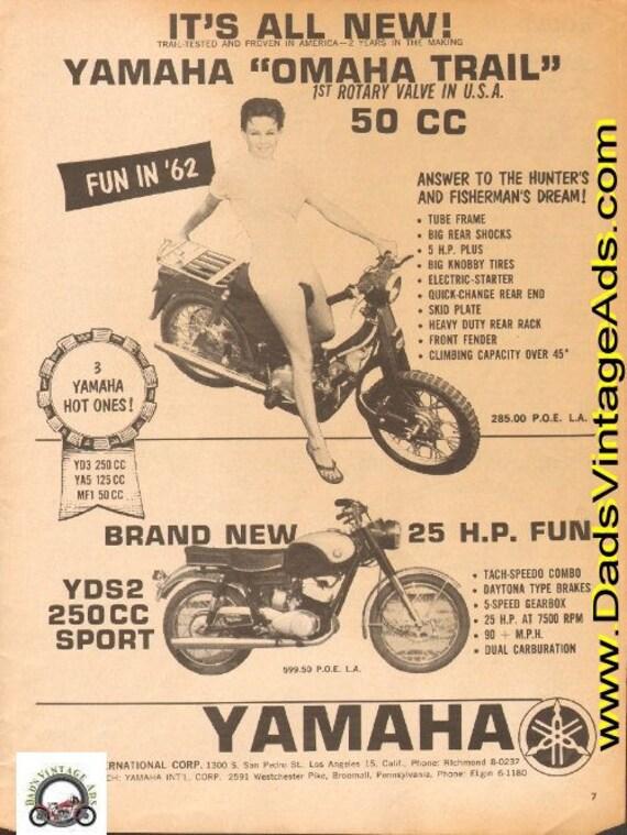 1962 Yamaha Omaha Trail YDS2 250 Sport Motorcycle Ad #d63aa12