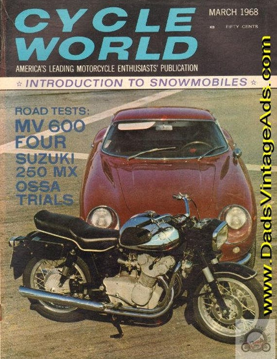 1968 March Cycle World Motorcycle Magazine Back-Issue #6803cw