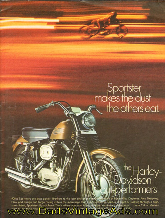 1970 Harley-Davidson 900cc Sportster Ad #de70ba10