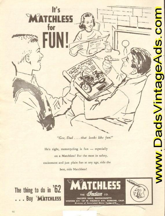 1962 Matchless / Indian Motorcycle Company, Chicopee Falls, Massachusetts Ad #e62ga03