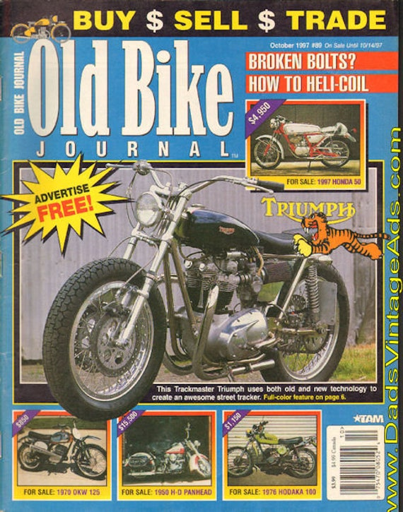 1997 October Old Bike Journal Motorcycle Magazine Back-Issue #9710obj