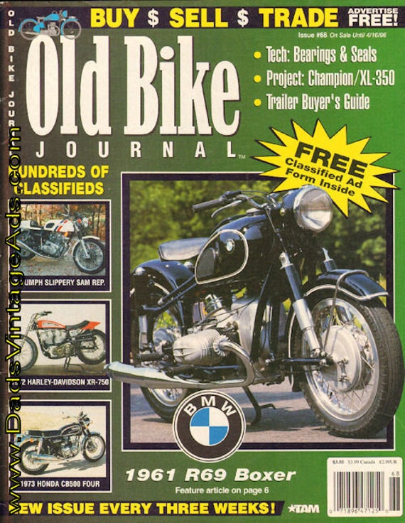 1996 March 26 Old Bike Journal #68 Motorcycle Magazine Back-Issue #960326obj