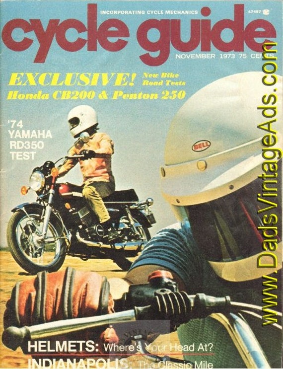 1973 November Cycle Guide Motorcycle Magazine Back-Issue #7311cg