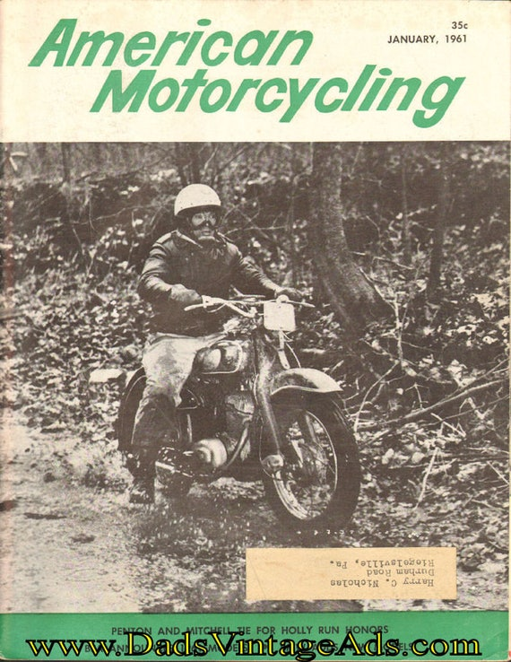 1961 January American Motorcycling Motorcycle Magazine Back-Issue #6101amot