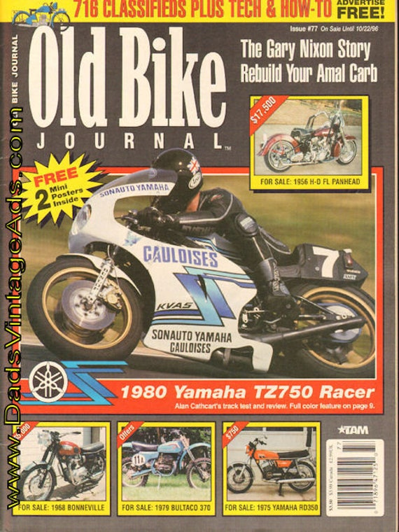 1996 October 1 Old Bike Journal #77 Motorcycle Magazine Back-Issue #961001obj