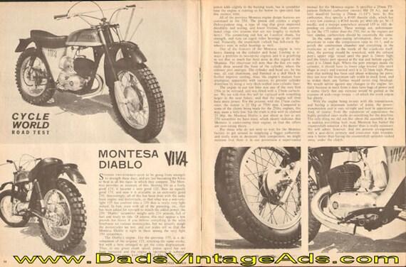 1964 Montesa Diablo Road Test 4-Page Article #d64ga21