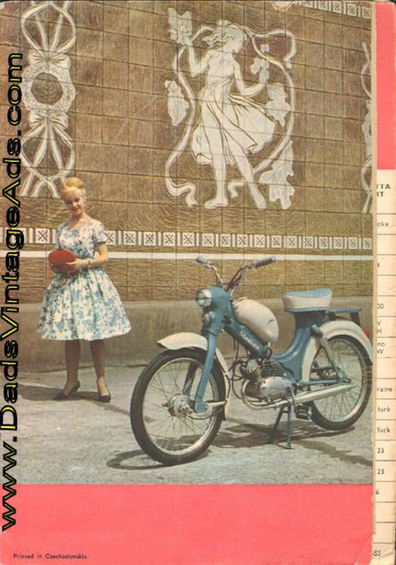 1960-Circa Vintage Jawa / CZ / Manet / Motokov Motorcycle 8-Page Brochure #mb578