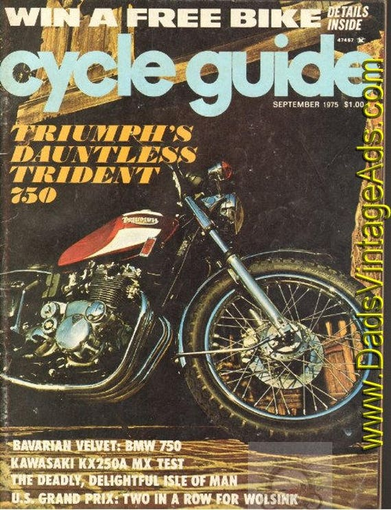 1975 September Cycle Guide Motorcycle Magazine Back-Issue #7509cg