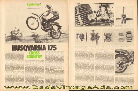 1975 Husqvarna 175 Cross Country Road Test 6-Page Article #e75hb08