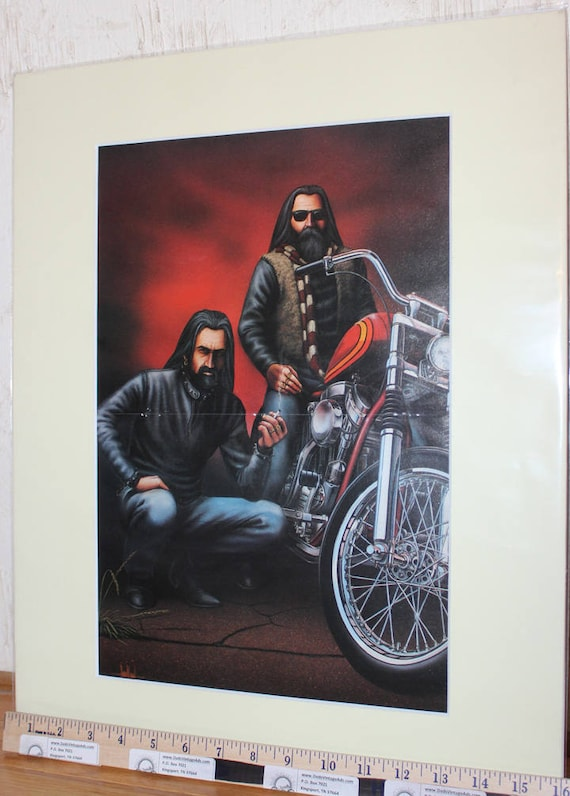 "David Mann ""Brothers"" Biker Art 16"" x 20"" Matted Motorcycle Print #8909ezrxmc"