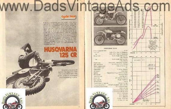 1977-1978 Husqvarna 125 CR Husky Motorcycle Test 7-Page Photo Article #e77la16