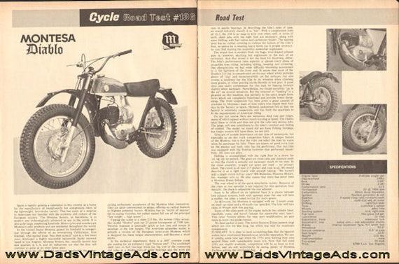 1965 Montesa Diablo Motorcycle Road Test #136 3-Page Article #e65ea01