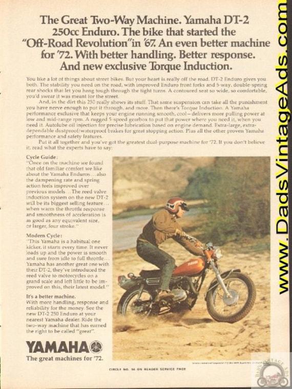 1972 Yamaha DT-2 250cc Enduro - The Great Two-Way Machine Ad #e72ea04