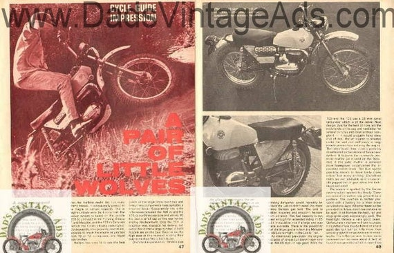 1969 Bultaco Little Wolve Lobito 100 125 Trail Impression 4-Page Article #bf6912a05