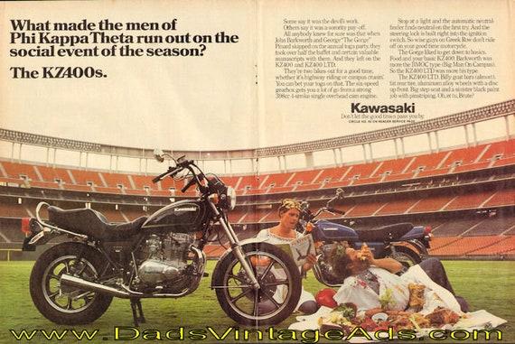 1979 Kawasaki KZ400 LTD 2-Page Ad #e79ga09