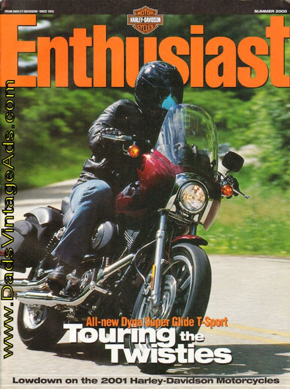 2000 Summer Harley-Davidson Enthusiast Motorcycle Magazine Back-Issue #mb435