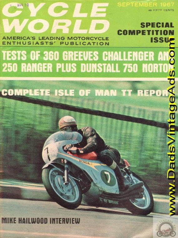 1967 September Cycle World Motorcycle Magazine Back-Issue #6709cw