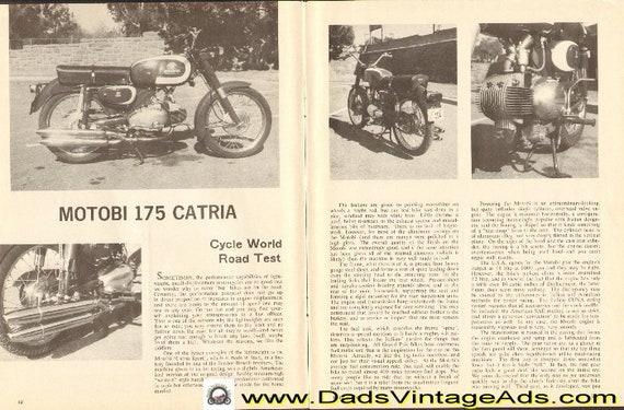 1962 Motobi 175 Catria Road Test 4-Page Article #d62ca03