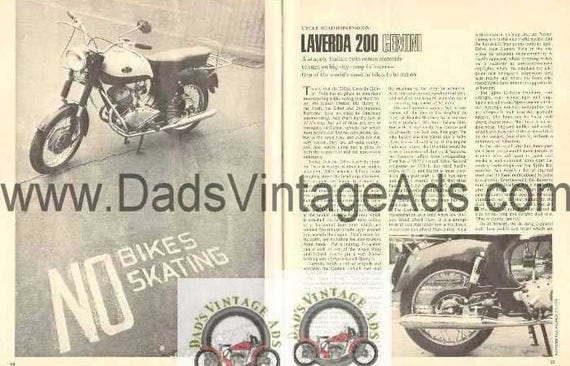 1967 Laverda 200 Gemini Motorcycle Road Test 3-Page Photo Article #ncj02