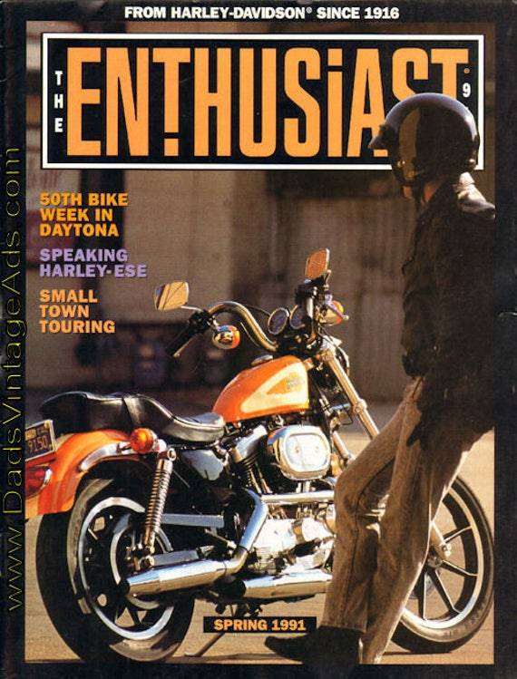 1991 Spring The Enthusiast Harley-Davidson Motorcycle Magazine Back-Issue #mb478