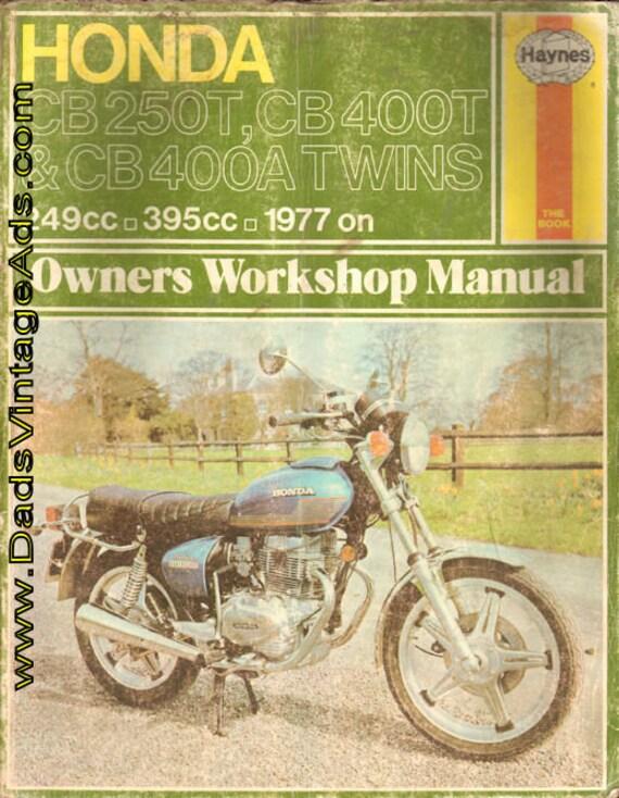 1977 Honda CB250T, CB400T & CB400A Twins Haynes Workshop Manual #mm84