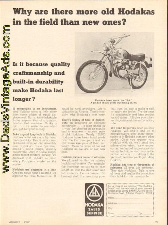 1972 Hodaka B+ Motorcycle Ad #d72ha04
