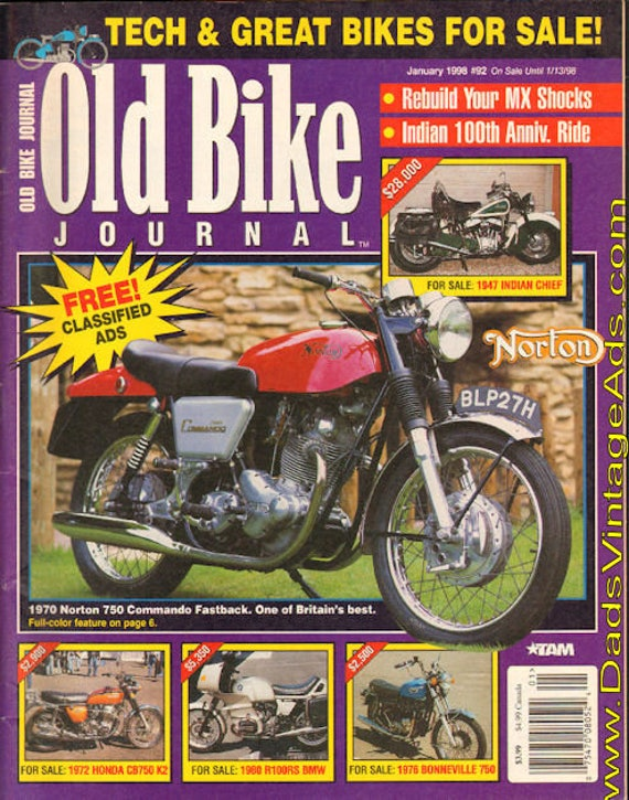 1998 January Old Bike Journal Motorcycle Magazine Back-Issue #9801obj