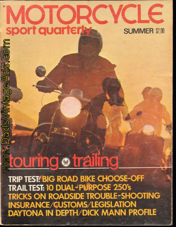1970 Summer Motorcycle Sport Quarterly - Touring & Trailing Book #mb580