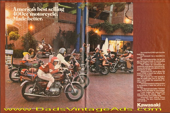 1978 Kawasaki KZ400 - America's best selling 400cc - made better 2-Page Ad #d78da12