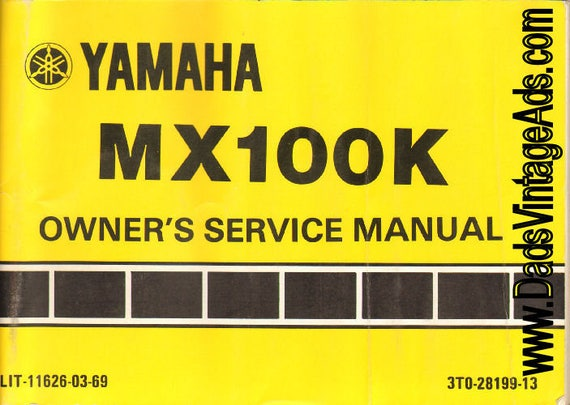 1982 Yamaha MX100K Owner's Service Manual #mm90